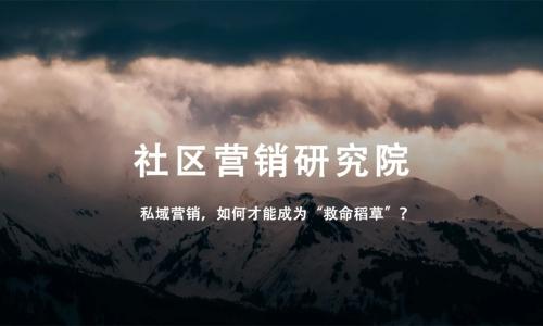 """私域营销,如何才能成为""""救命稻草""""?"""